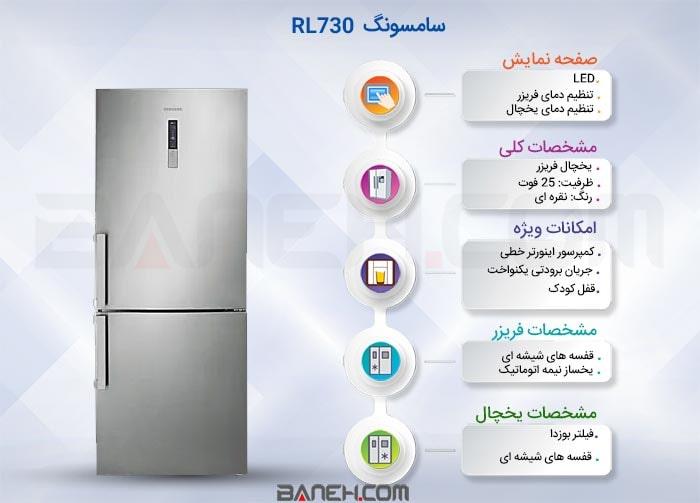 اینفوگرافی یخچال  RL730