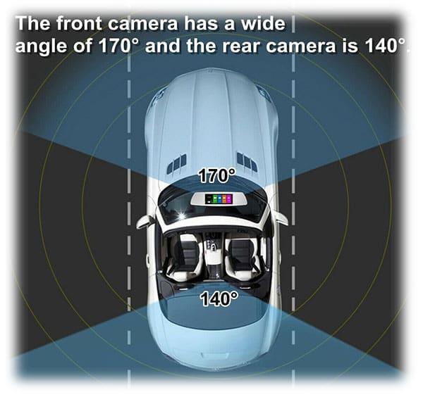 قابلیت دوربین فیلمبرداری خودرو 10 اینچی
