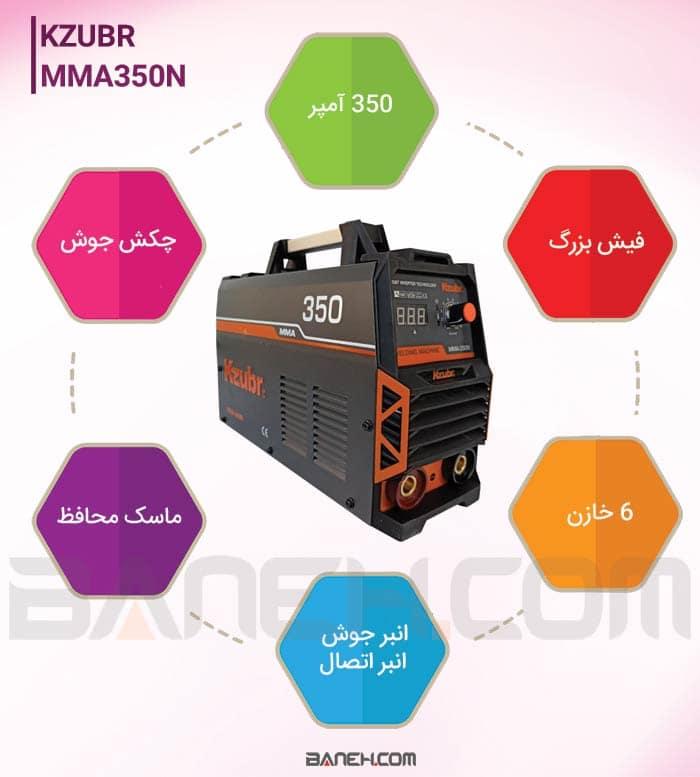 اینفوگرافی دستگاه جوشکاری MMA-350N
