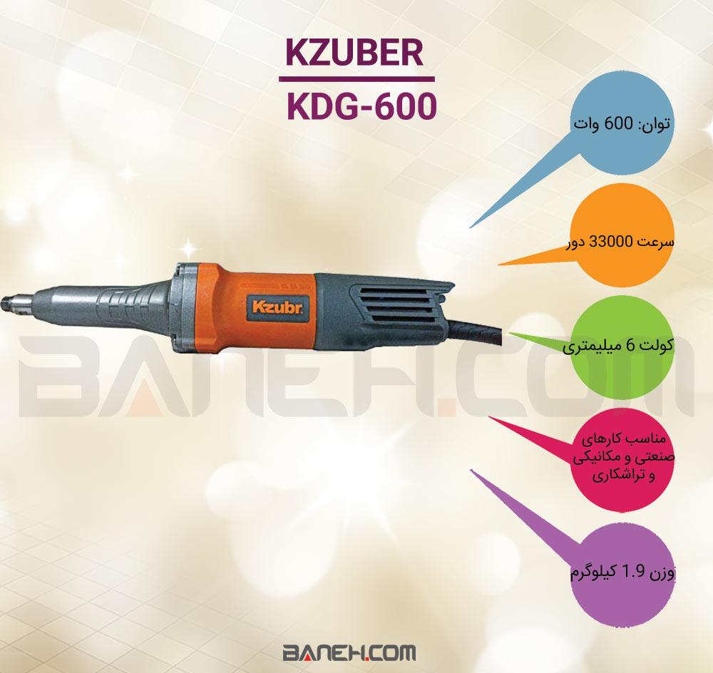 اینفوگرافی فرز مینیاتوری زوبر DIE GRINDER KZUBER KDG-600