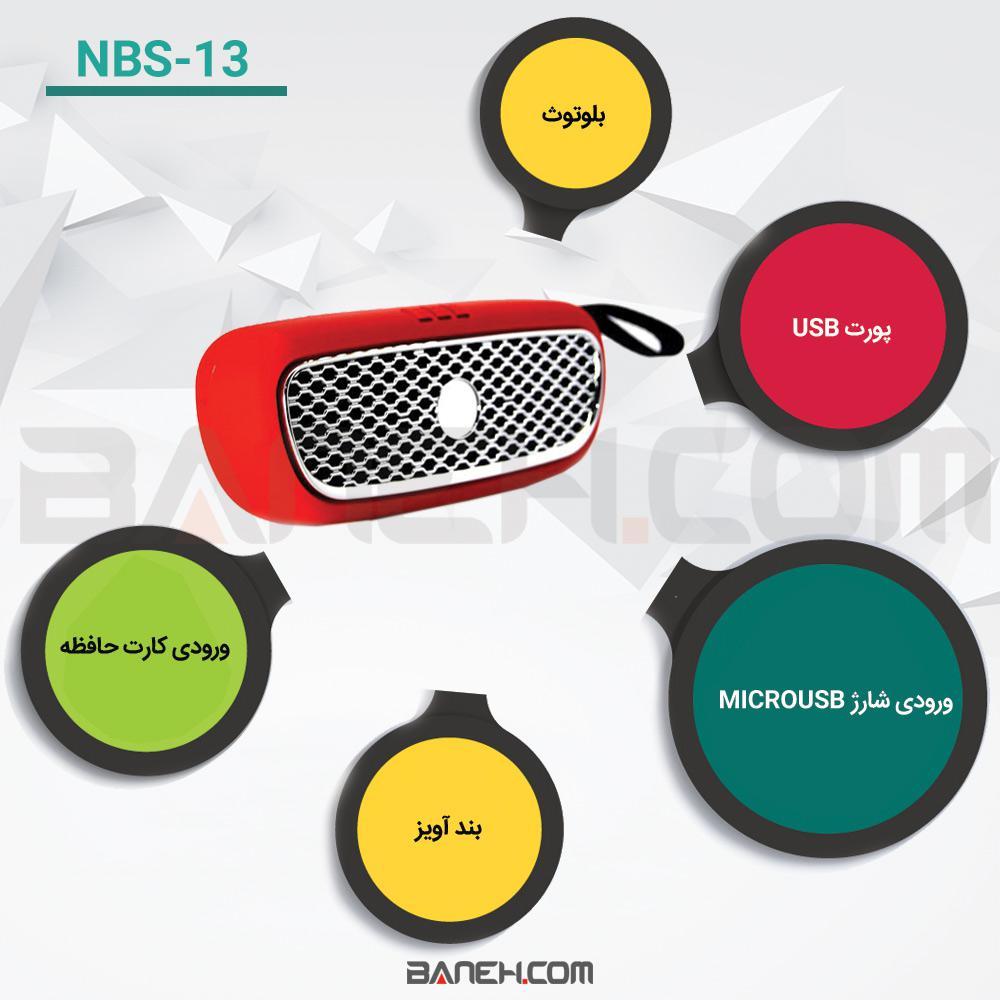 اینفوگرافی اسپیکر بلوتوثی NBS-13