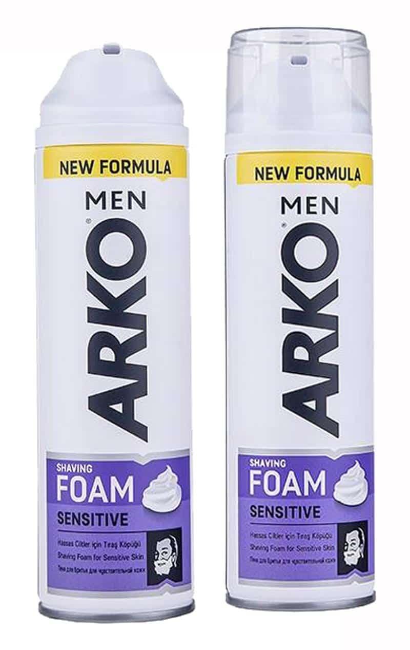 قیمت کرم اصلاح آرکو 200 میلی لیتر ARKO FOAM SENSETIVE