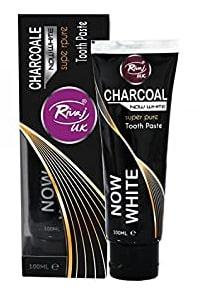 خمیر دندان زغالی ریواج 100 میلی لیتر Rivaj UK Charcoal Now White Super Pure