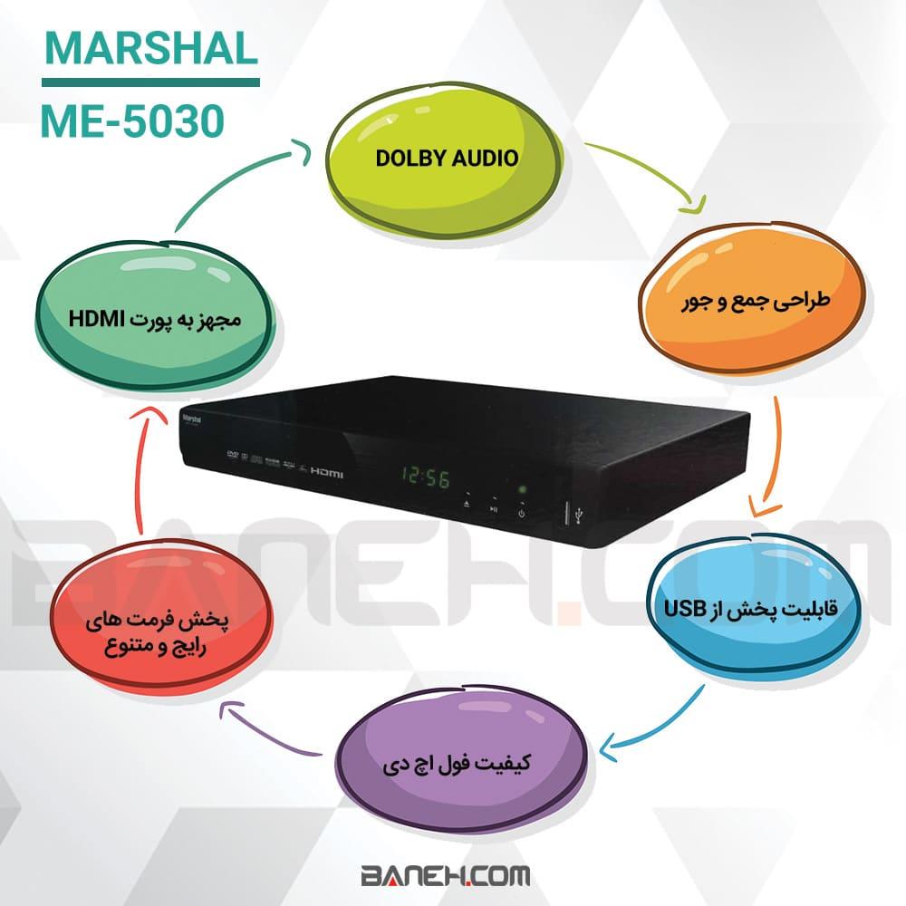 اینفوگرافی دی وی دی مارشال me-5030
