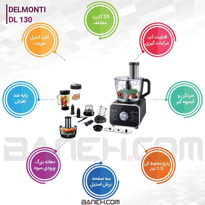 اینفوگرافی غذاساز DL130