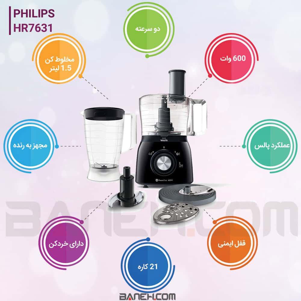 اینفوگرافی غذاساز فیلیپس HR7631