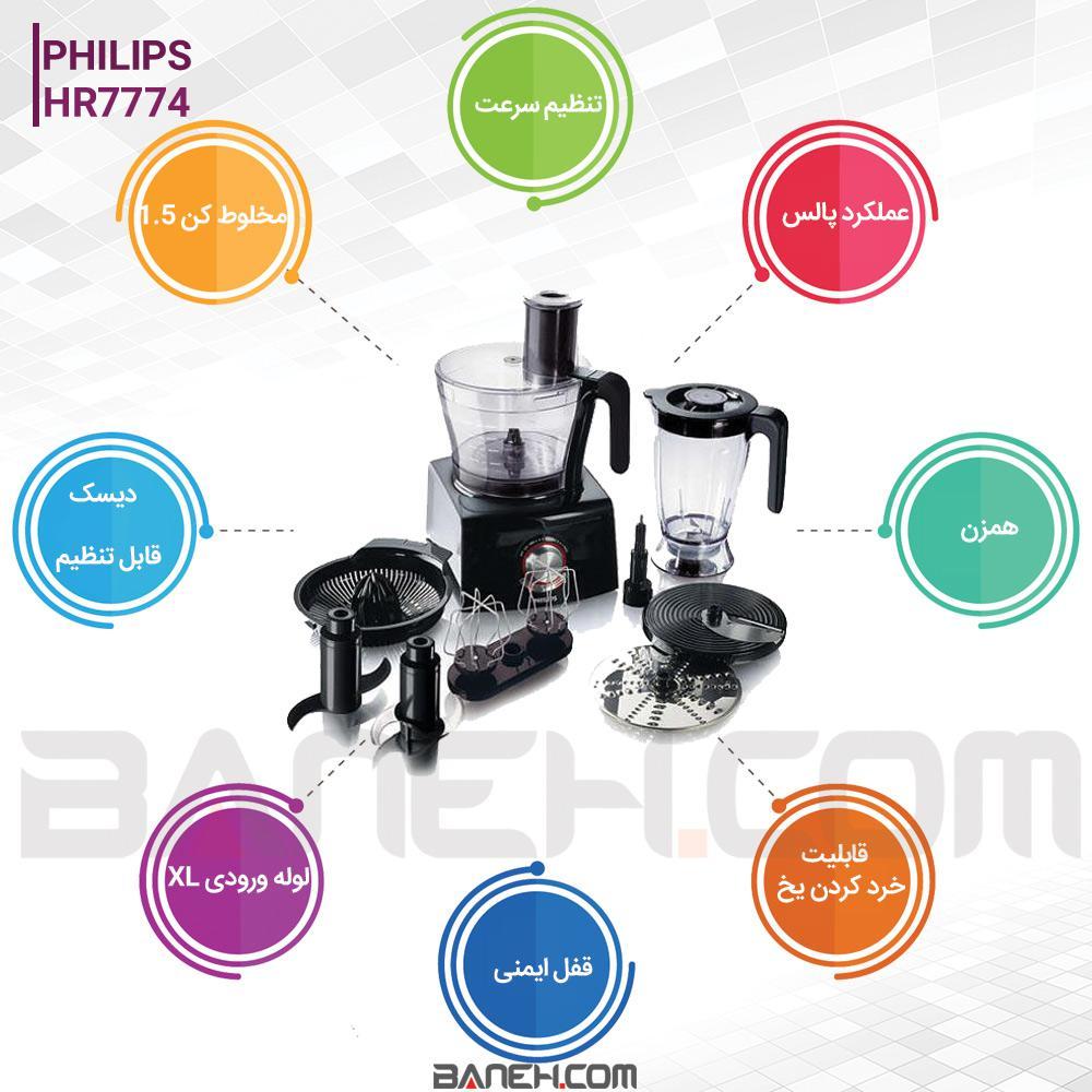 اینفوگرافی غذاساز فیلیپس 30 کاره