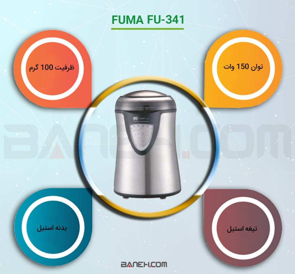 اینفوگرافی آسیاب برقی فوما FU-341