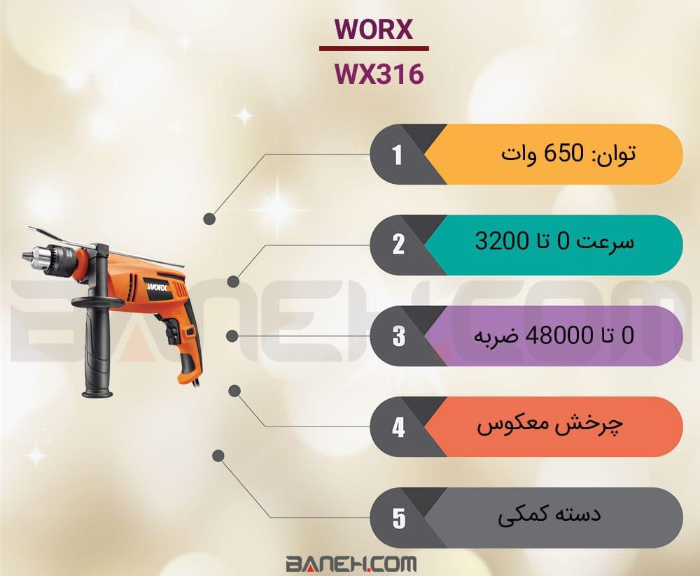 اینفوگرافی دریل ورکس WX316