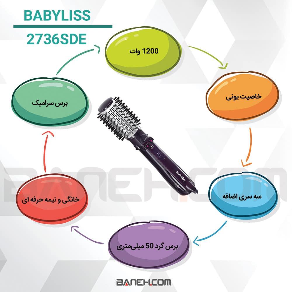 اینفوگرافی سشوار چرخشی بابلیس 2736SDE