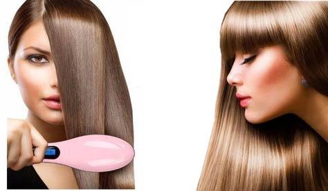 صاف کردن مو با برس حرارتی HR762
