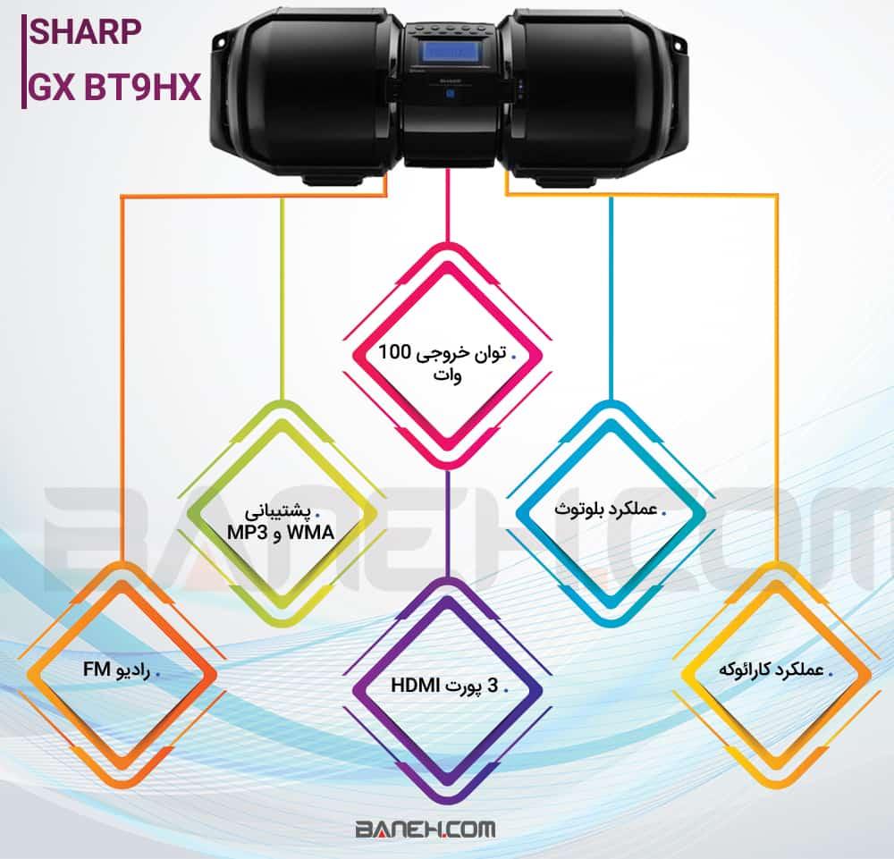 GX BT9HX Sharp پخش کننده موسیقی