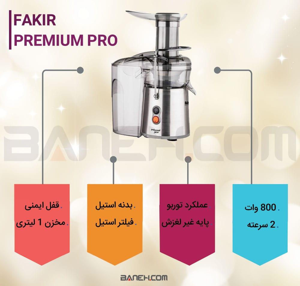 اینفوگرافی آبمیوه گیری ففکر Premium Pro