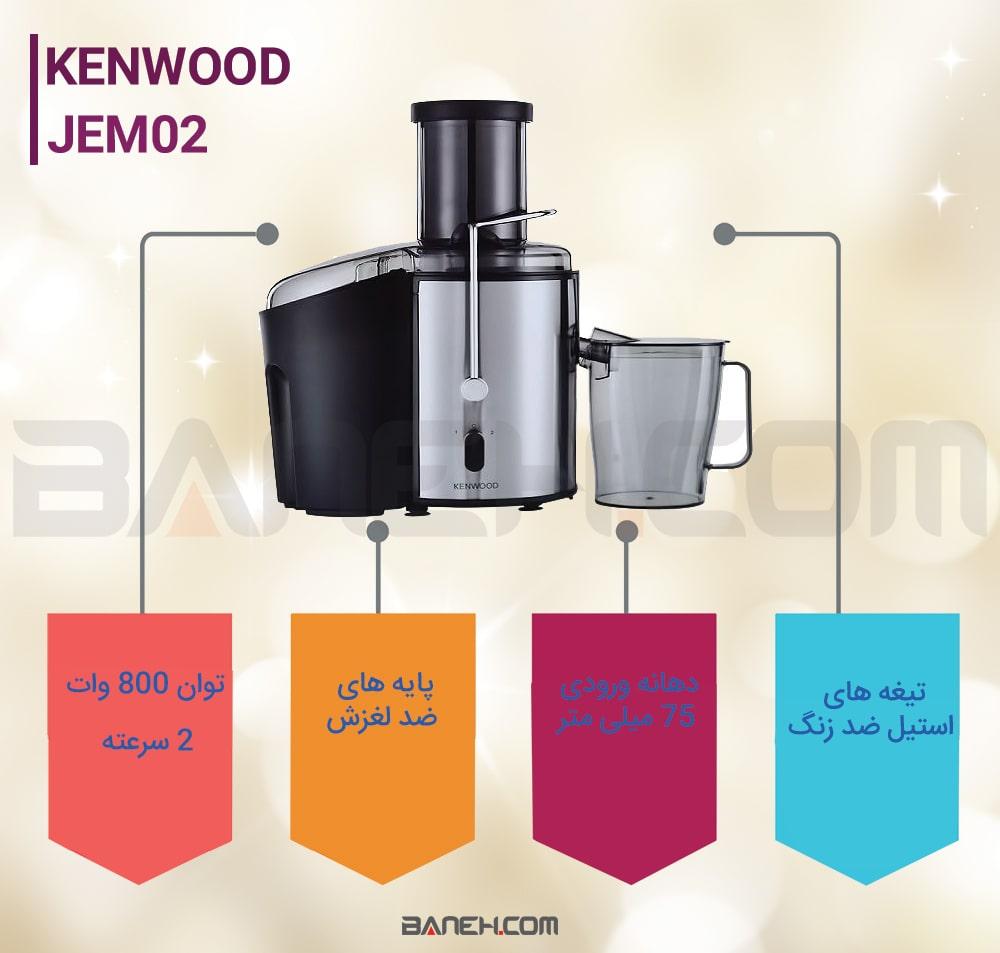 طراحی آبمیوه گیری کنوود jem02