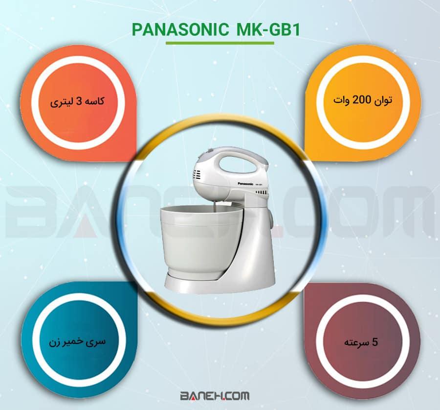 اینفوگرافی همزن پاناسونیک MK-GB1