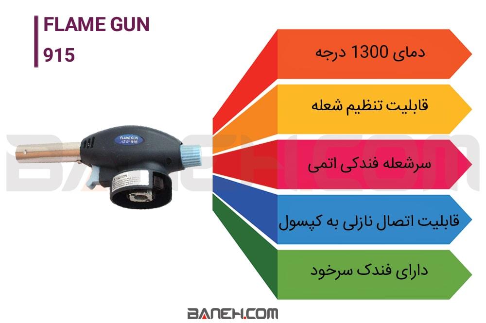 اینفوگرافی شعله افکن Flame Gun 915