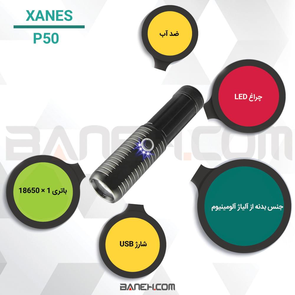 اینفوگرافی قیمت خرید چراغ قوه ی پلیسی مدل XANES® P50