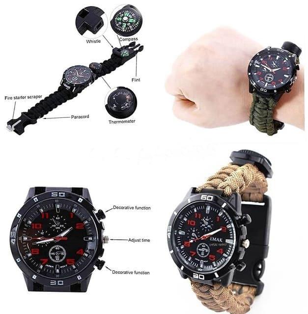 ساعت مچی عقربه ای پاراکورد survival watch
