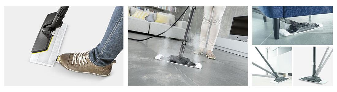 شستشوی زمین با بخارشوی کارچر SC5 Premium