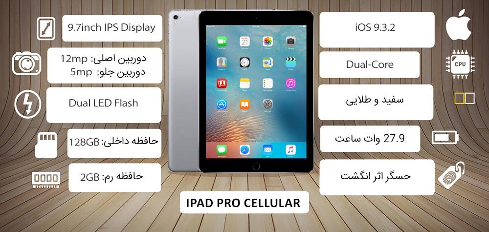 اینفوگرافی آیپد پرو سلولار اپل