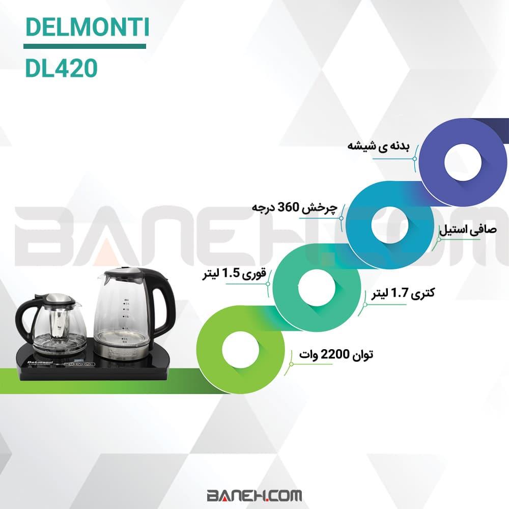 اینفوگرافی چای ساز دلمونتی DL420