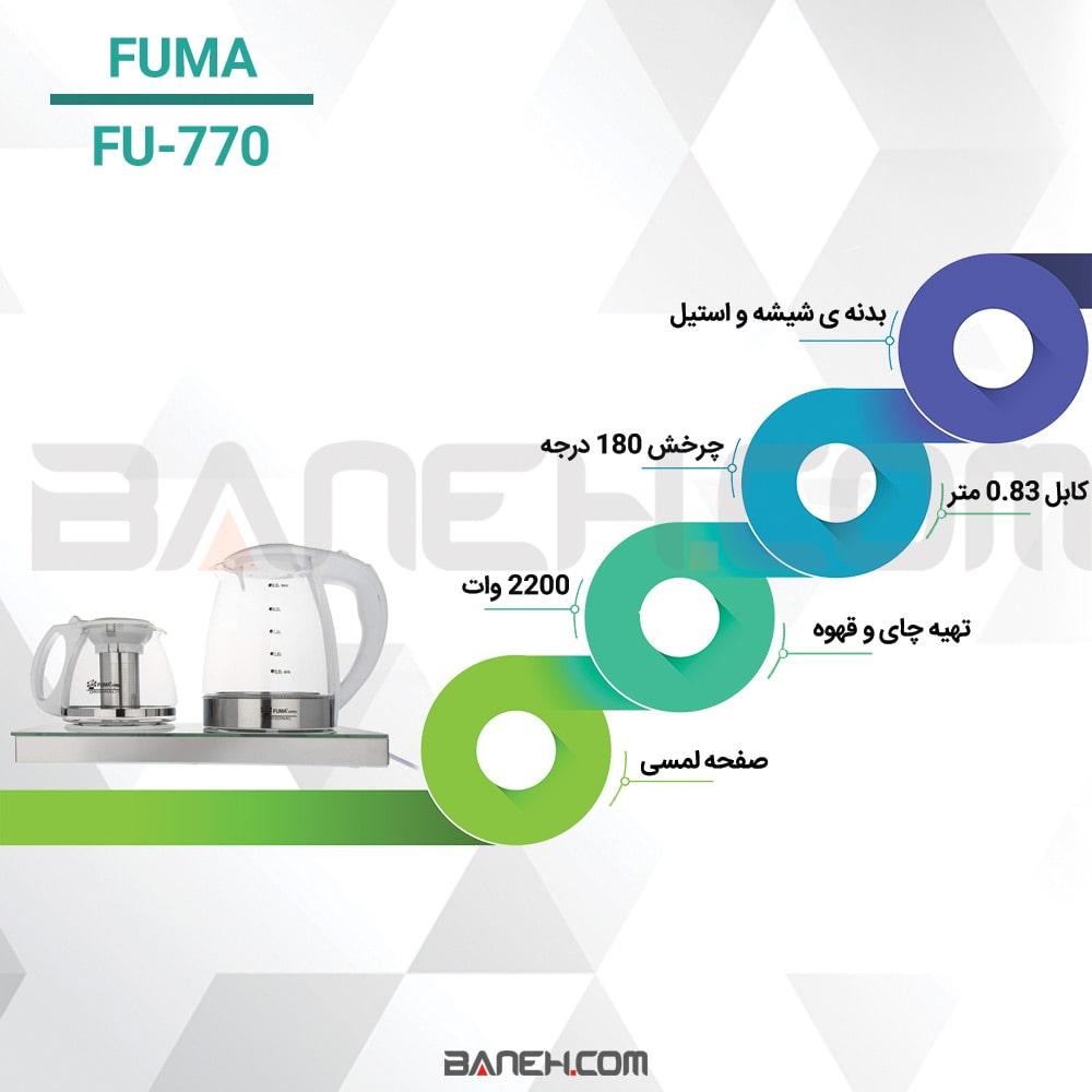 اینفوگرافی چای ساز فوما FU-770
