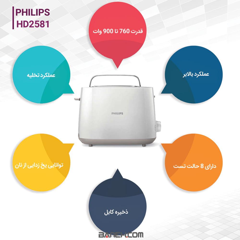 HD2581 خرید توستر فیلیپس