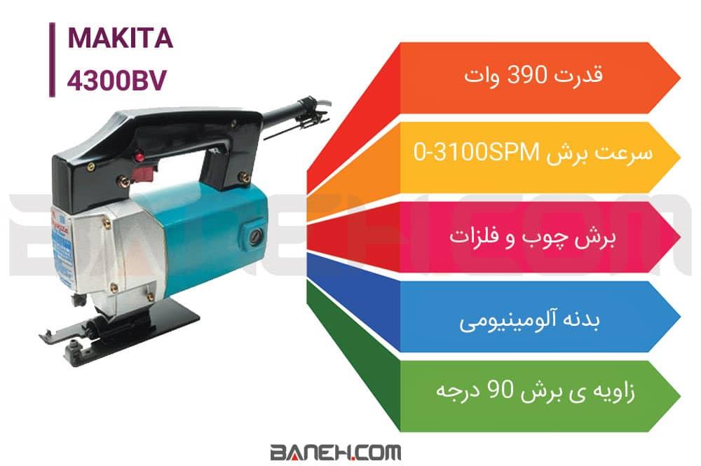 اینفوگرافی  اره عمود بر ماکیتا 4300BV