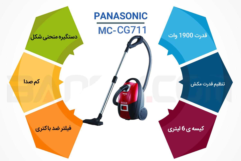 اینفوگرافی جاروبرقی پاناسونیک MC-Cg711