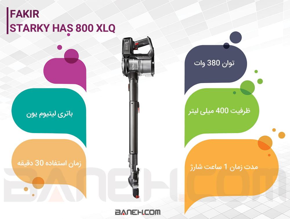 اینفوگرافی جاروشارژی فکز Starky Has 800 Xlq