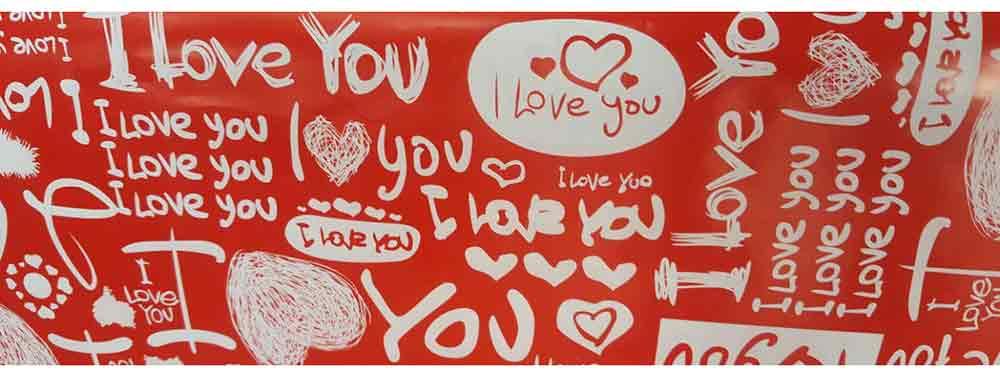 Gift wrap design love