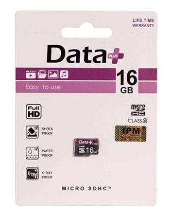 کارت حافظه میکرو اس دی دیتا پلاس 16 گیگابایت
