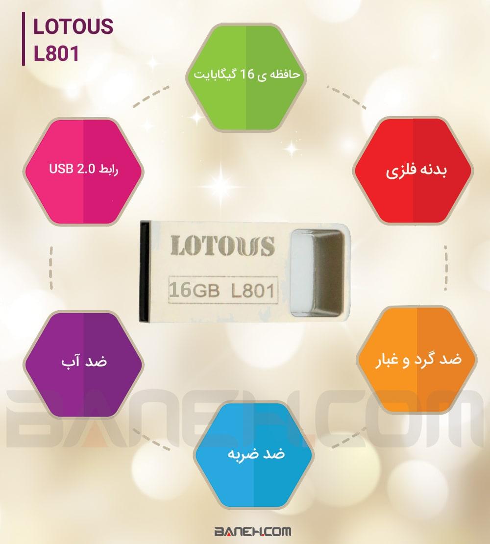 اینفوگرافی فلش مموری لوتوس L801