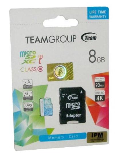 کارت حافظه تیم گروپ 8 گیگا بایت کلاس 10