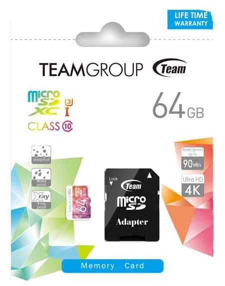 خریدکارت حافظه تیم گروپ 64گیگابایت