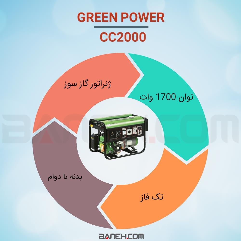 اینفوگرافی موتور برق CC2000 گرین پاور