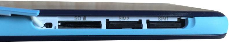 اسلات سیم کارت و حافظه ی جانبی در گوشی 626g+