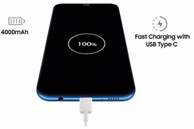 شارژ سریع در گوشی موبایل A50 سامسونگ