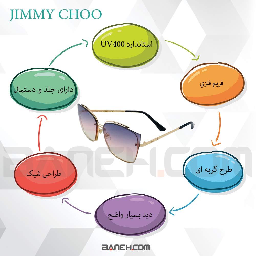اینفوگرافی عینک آفتابی Jimmy Choo