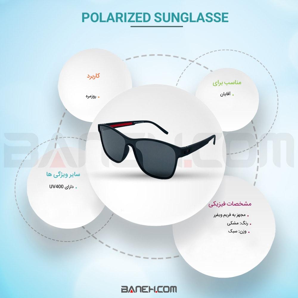 اینفوگرافی عینک آفتابی پلاریزه