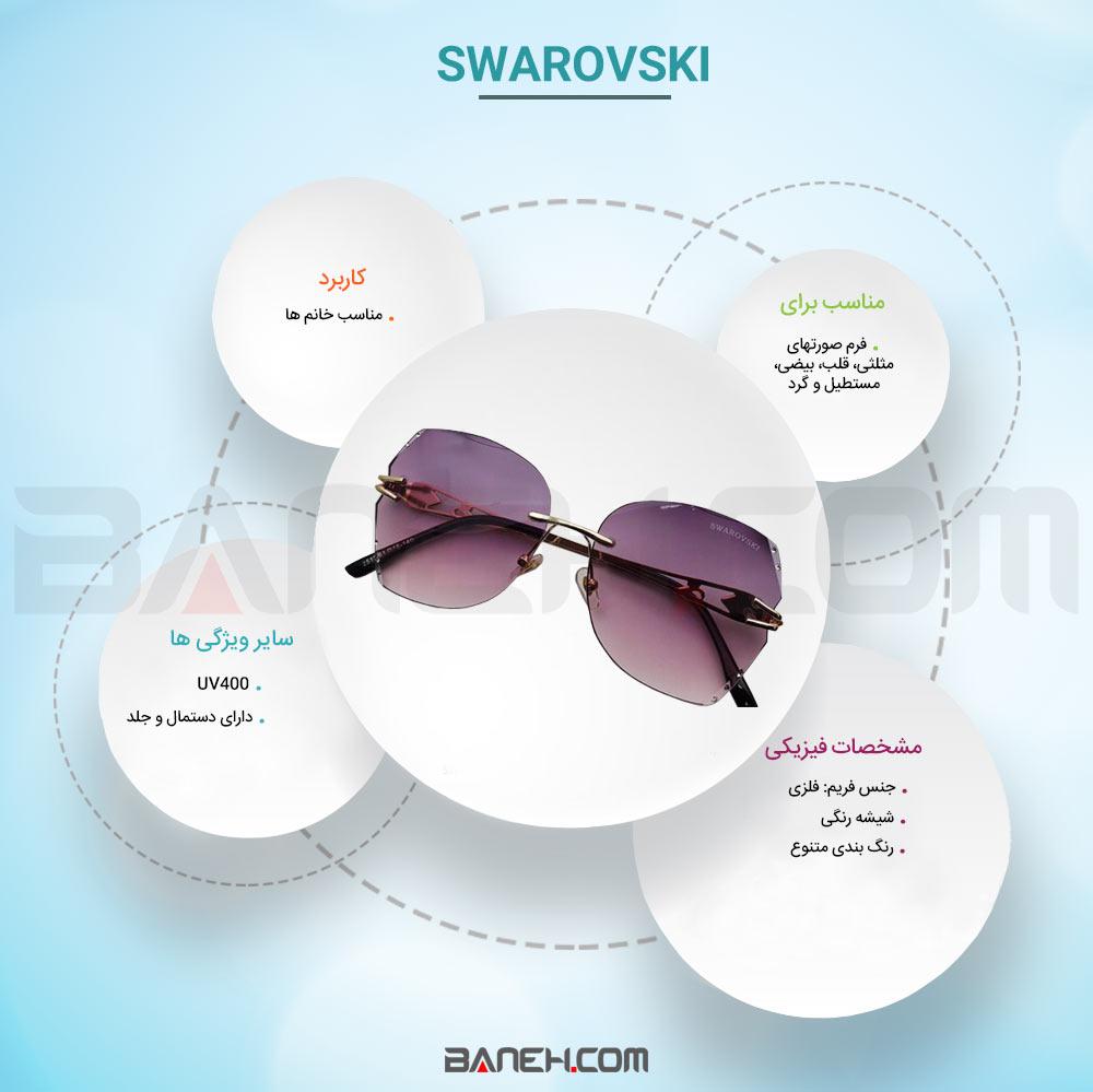 اینفوگرفی عینک آفتابی سواروسکی زنانه