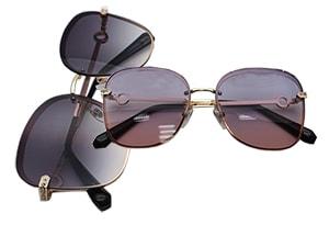 عینک آفتابی زنانه ی فشن مارک دار Fashion Sunglasses UV400