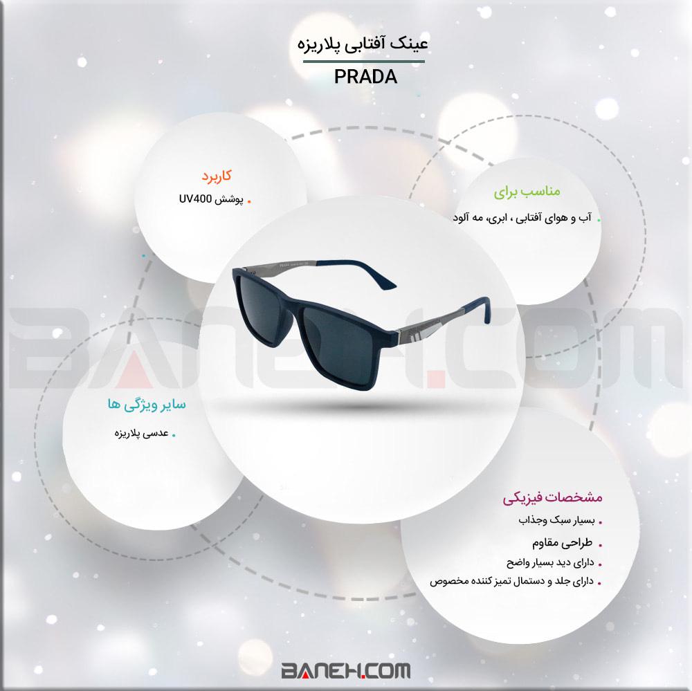 اینفوگرافی عینک آفتابی prad